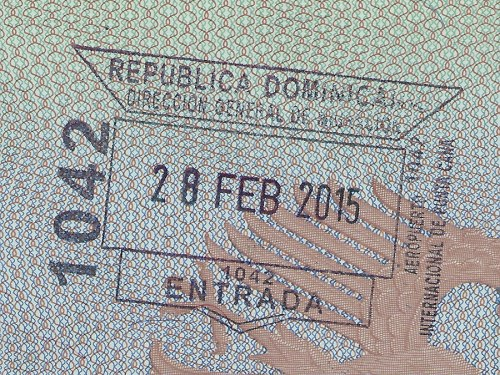 Arrival Stamp into The Dominican Republic